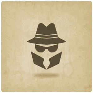 spy icon old background